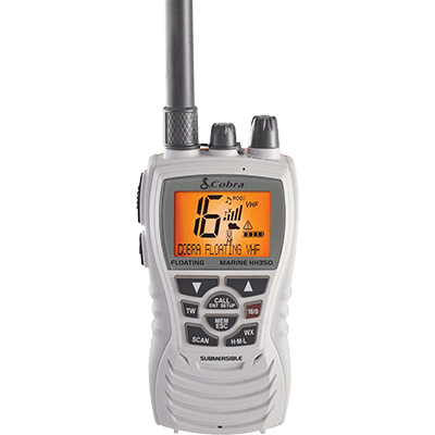 Cobra VHF-HH, 6 Watt, Floats, White