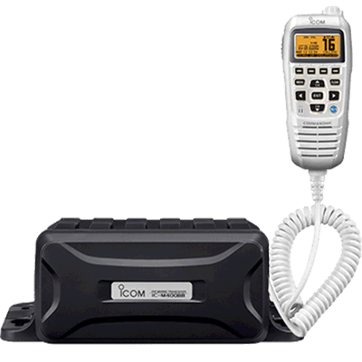 Icom VHF, Black Box w/White CommandMic IV