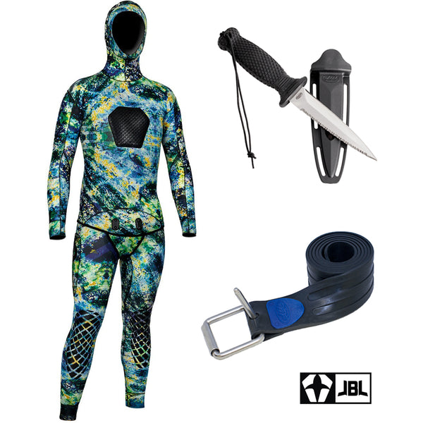 JBL Vertigo Wetsuit / Knife / Weight belt combo