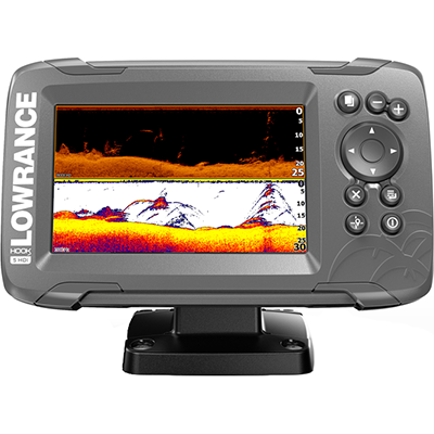 Lowrance HOOK2-5 Combo, Inland Maps, DownScan