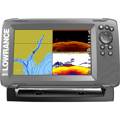 Lowrance HOOK2-7 Combo, Inland Maps, DownScan