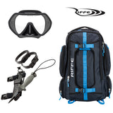 Riffe Drifter Bag, Frameless Mask, Stubby Dive Knife Combo