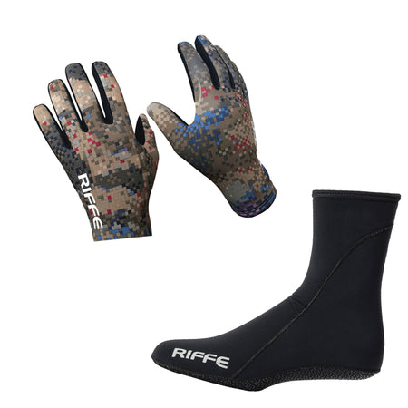 Riffe Gloves and Socks Combo