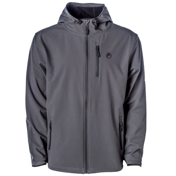 Fishon Energy Poly-Tech Water Resistant Soft Shell Jacket (charcoal)