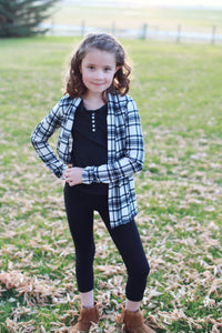 Plaid Perfection Kids Cardigan