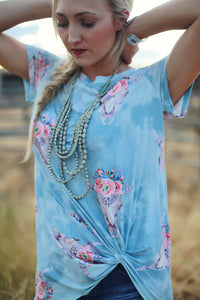 Cowgirl Dream - Skull Tie Top