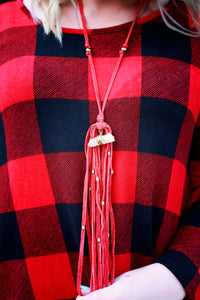 Love Is Red Necklace