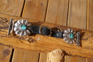 Turquoise Flower 42 mm