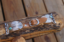 Feather with Turquoise Stone 42 mm