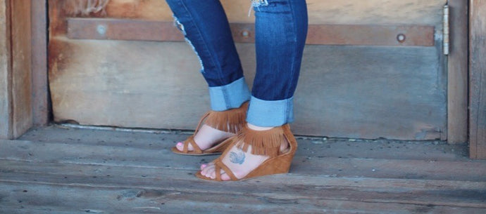 Forever Fringe Wedge