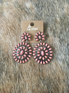 Coral Eyes Earrings