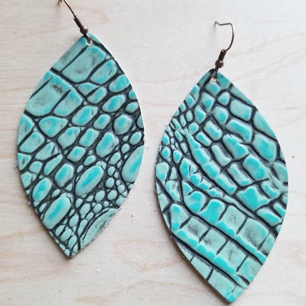 Wake Me Up Leather Earrings