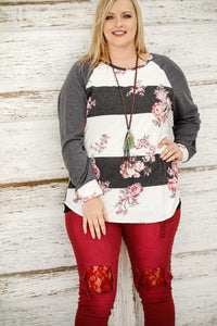 Fall Flowers Sweater
