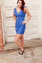 Royally Blue Button Up Dress
