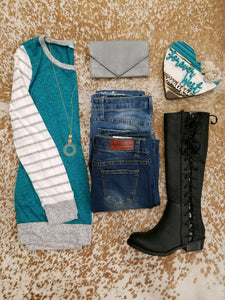 Feel the Teal Sweater