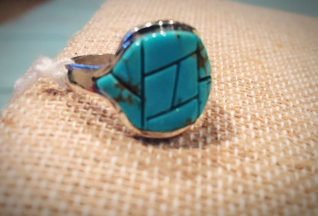 Pieced Turquoise Ring