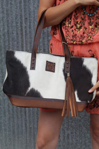 Cowgirl Way Cowhide Tote