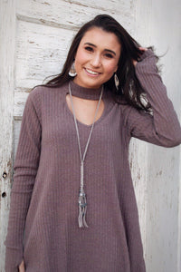 Velvet Grey Necklace Set