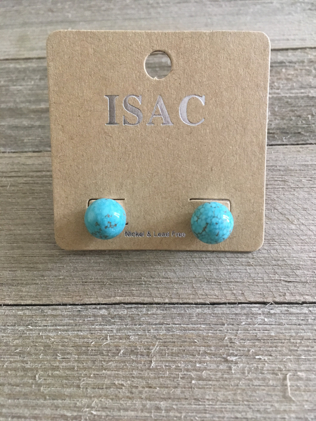 Turquoise Waves Post Earrings