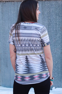 Wherever I Wander Aztec Top