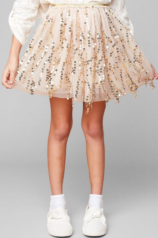 Shine Your Light Sequin Skirt