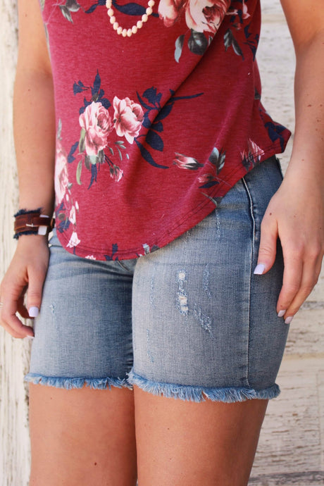 Ragged on the Edges Girl Shorts