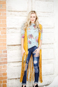 Wild Flower Tie Top