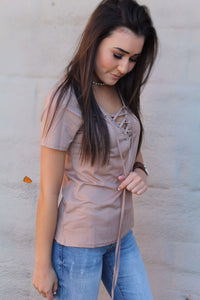 Beautiful Drug Lace-Up Top