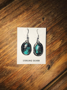 My Dark Side Turquoise Earrings