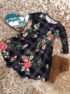 Floral, Check! Toddler Dress