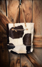 Maya Black and White Hair On Tote by Myra