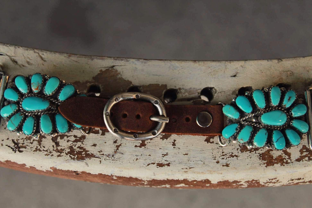 Small Cluster Turquoise Apple Watch band by Wild Horse Watchin' Bands