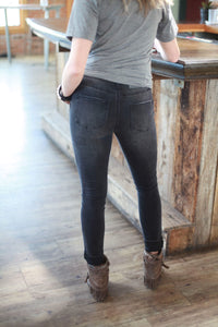 Patch It Up Black Skinny Jean