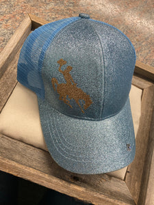Wyoming Blue Sparkle Ball Cap
