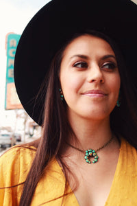 Dainty Faux Turquoise Squash Necklace