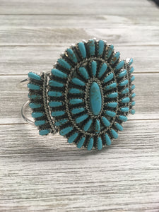On My Mind Turquoise Cluster Cuff