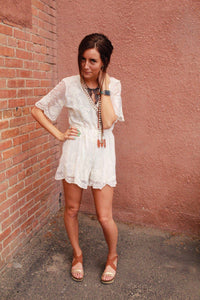 Tea Party Lace Romper