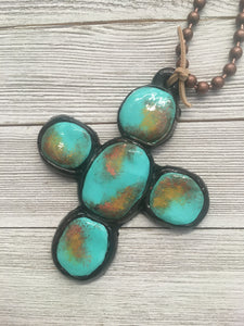 Agave Black and Turquoise Necklace