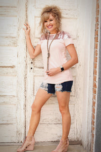 Rebel Heart Distressed Denim Shorts