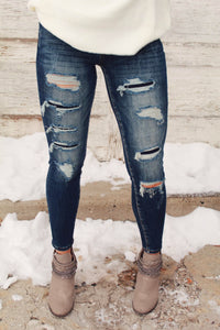 Dakotah Distressed Skinny Jean