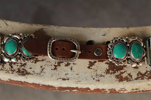 Two Stone Turquoise by Wild Horse Watchin' Bands