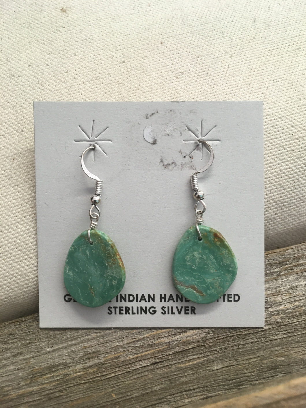 Won't Give Turquoise Slab Earrings