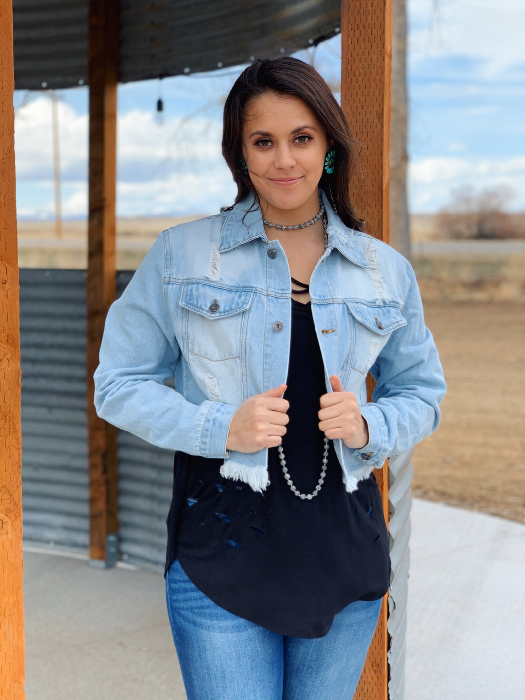 Ragged on the Edges Denim Jacket