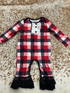 Little Miss Plaid Onesie