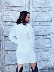 Head In The Clouds Sweater Dress