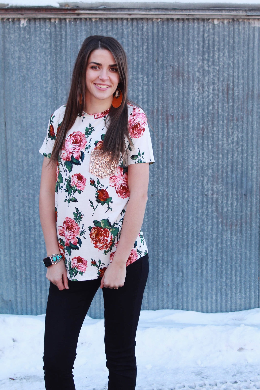What Love Was Floral Top