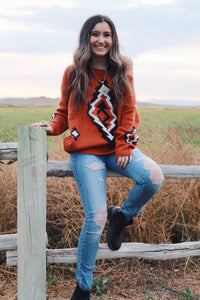 Gone West Pullover Sweater