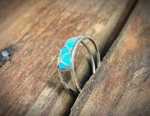 Brave Girl Turquoise Stacker Ring