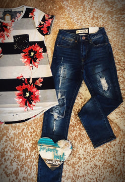 In The End Destroyed Skinny Jean