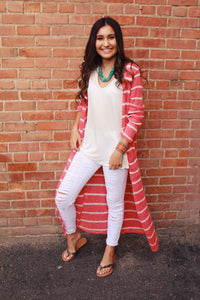 Cover Me in Coral Cardigan
